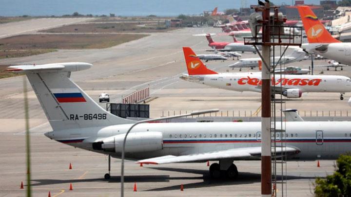 Avión de la fuerza aérea de Rusia aterrizó en Maiquetía
