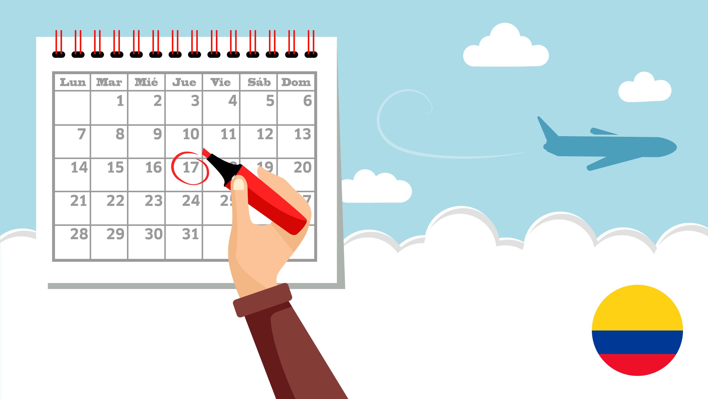 Calendario Colombia 2019 Octubre.Festivos En Colombia Conoce Cuales Son Los Dias Festivos