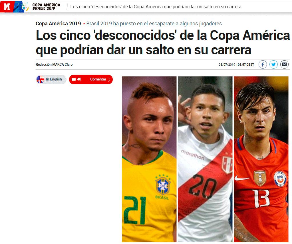 Marca destaca desempeño de Pedro Gallese y Edison Flores