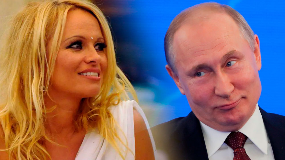 Pamela Anderson strips naked to demand freedom from an orca